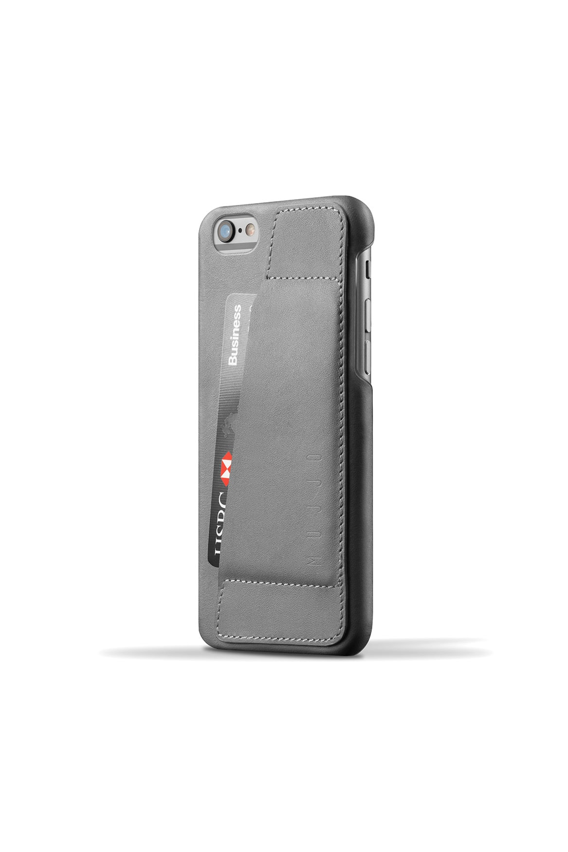 Leather Wallet Case 80° for iPhone 6s Gray 001